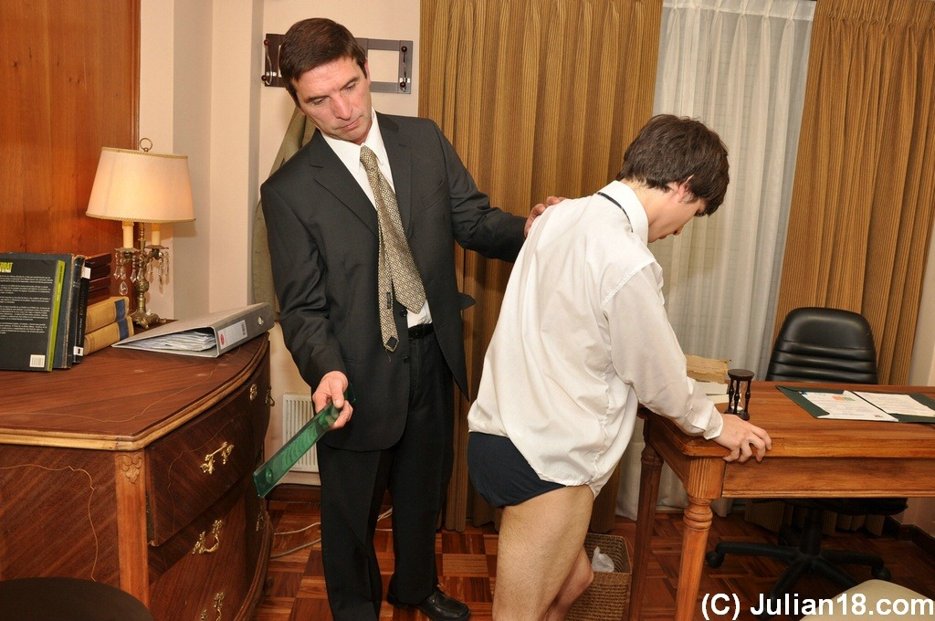Boy spanked and sucking