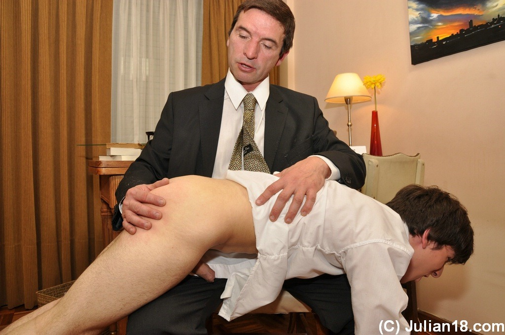 Straight guys spanked and sucking gay cock