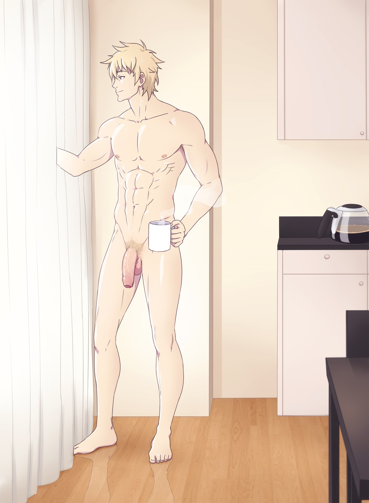 anime Naked hot male