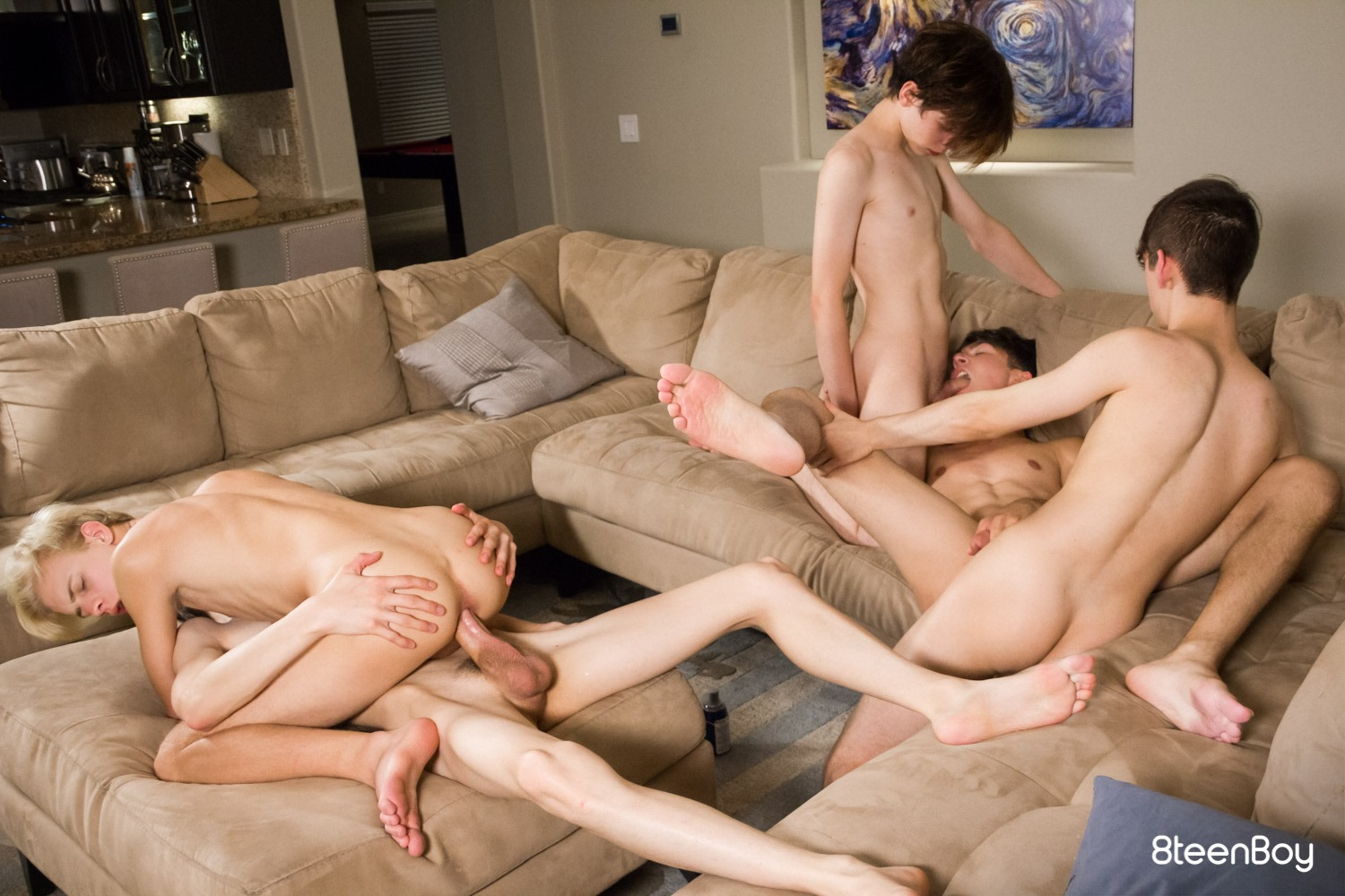 Watch This Hot Gay Teen Orgy